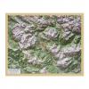 Reliefkarte mit Holzrahmen Cortina d'Ampezzo