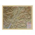 Carta di rilievo con cornice in legno Trentino