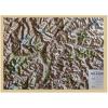 Carta di rilievo con cornice in legno Alto Adige
