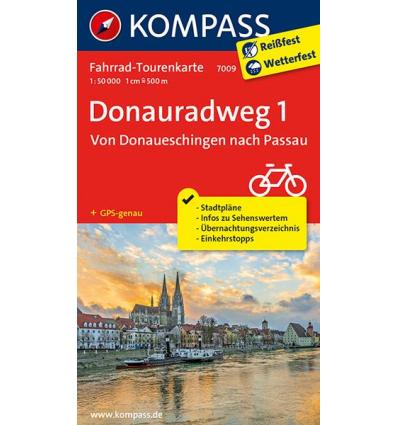 Donauradweg 1, Von Donaueschingen nach Passau guida in lingua tedesca
