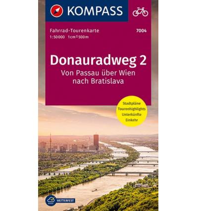 Donauradweg 2, Von Passau über Wien nach Bratislava guida in lingua tedesca