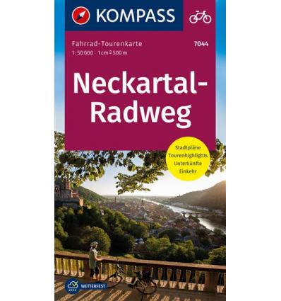 Neckartal-Radweg guida in lingua tedesca
